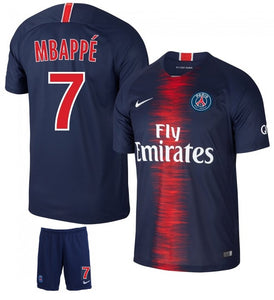 Original Mbappe' PSG Premium Home Jersey and Shorts [Optional] 2018-19