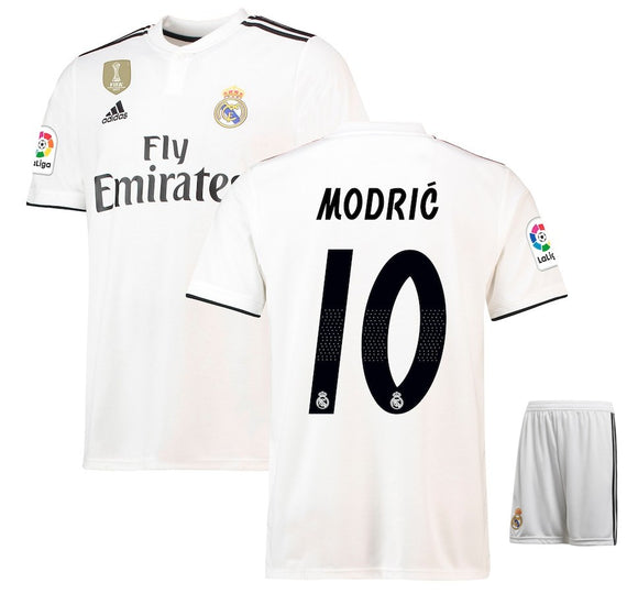 Original Modric Real Madrid Premium Home Jersey & Shorts 2018-19