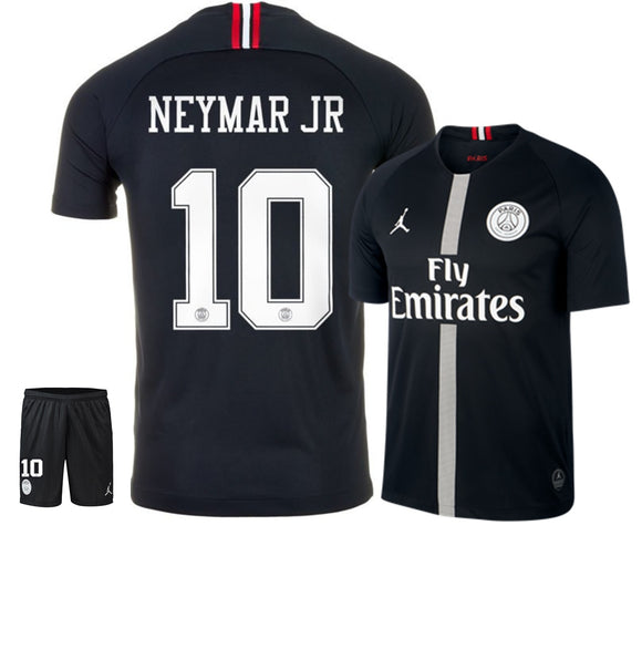Original Jordan X Black Neymar PSG Premium Jersey & Shorts [Optional] 2018-19