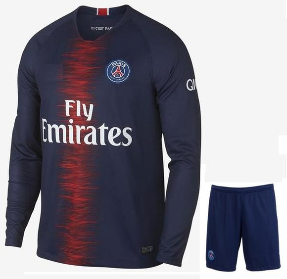 Original PSG Full Sleeve Premium Home Jersey & Shorts [Optional] 2018-19