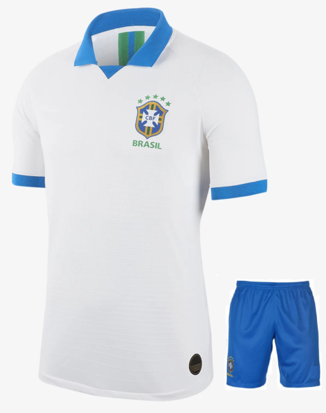 Original Brazil International Premium Away Jersey & Shorts 2019