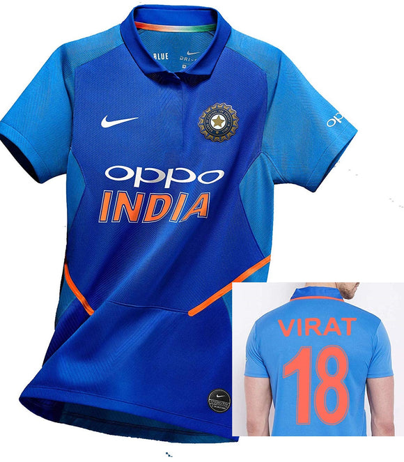 Virat Kohli India National Cricket Jersey World Cup 2019
