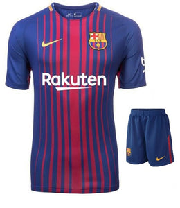 Barcelona Home Football Jersey & Shorts 2017-18