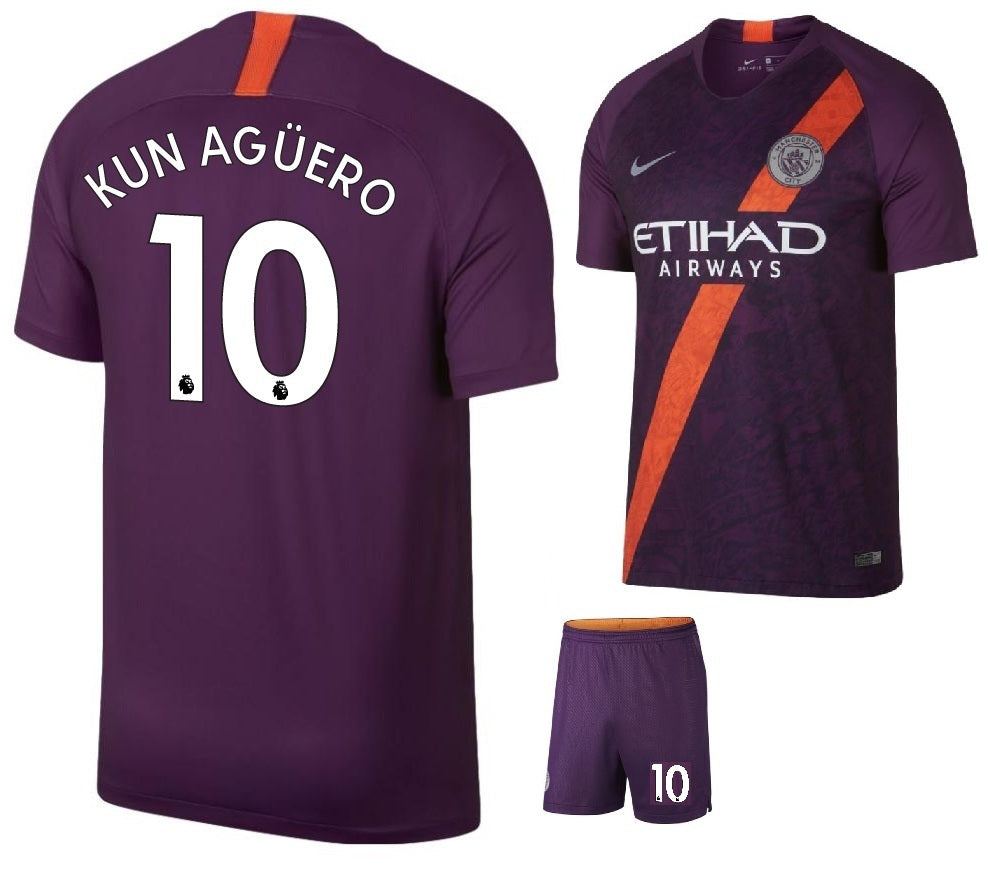 the best attitude d6b1c 91b44 Original Kun Aguero Manchester City Premium 3rd Jersey & Shorts [Optional]  2018-19
