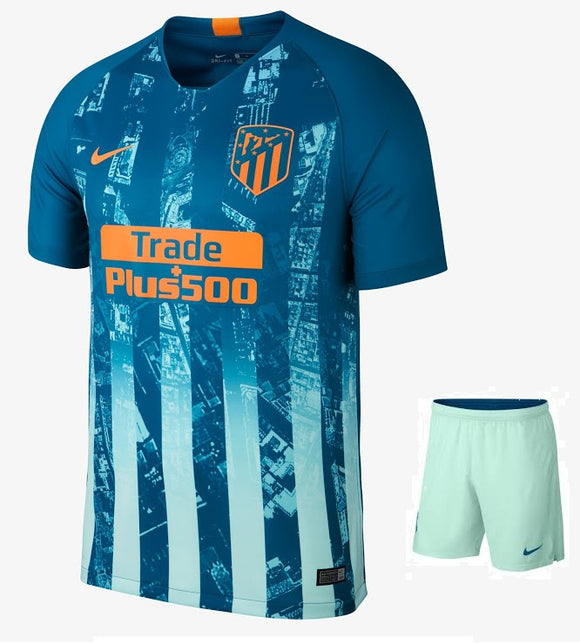 Original Atletico Madrid Premium 3rd Jersey & Shorts [Optional] 2018-19
