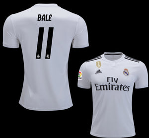Original Gareth Bale Real Madrid Home Jersey 2018-19 with La Liga Logo [Superior Quality]