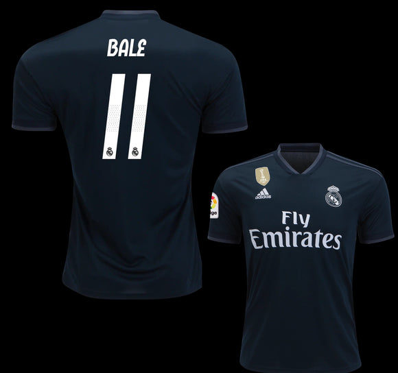 Original Gareth Bale Real Madrid Away Jersey 2018-19 with La Liga Logo [Superior Quality]