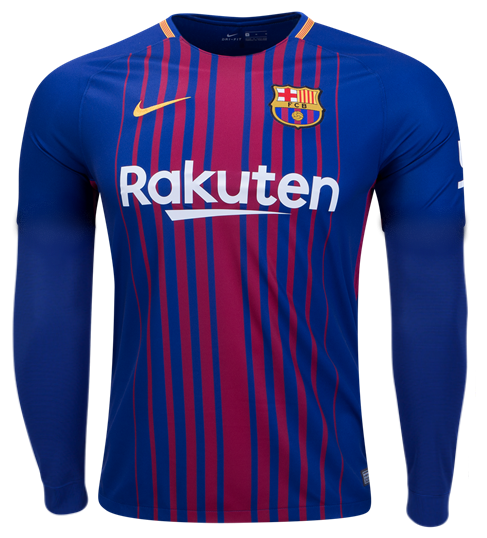 outlet store 08648 942c9 Original Barcelona Full Sleeve Premium Home Jersey 2017-18