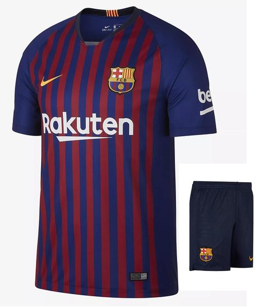 Original Barcelona Premium Home Jersey & Shorts [Optional] 2018-19
