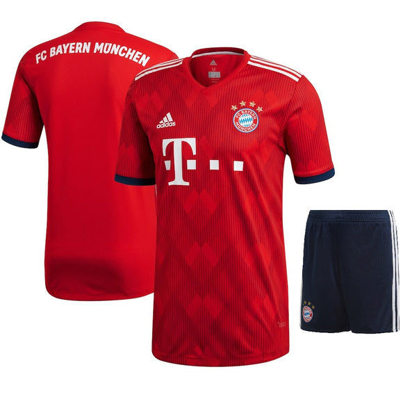 Original Bayern Munich Premium Home Jersey and Shorts [Optional] 2018-19