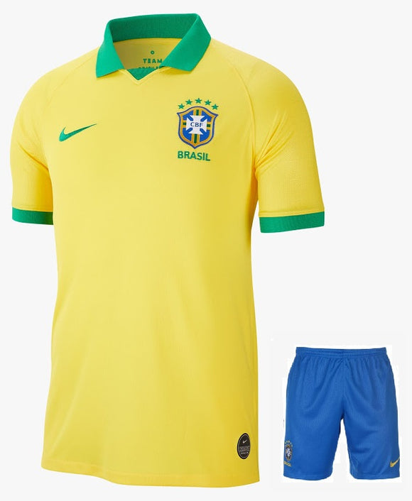 Original Brazil International Premium Home Jersey & Shorts [Optional] 2019