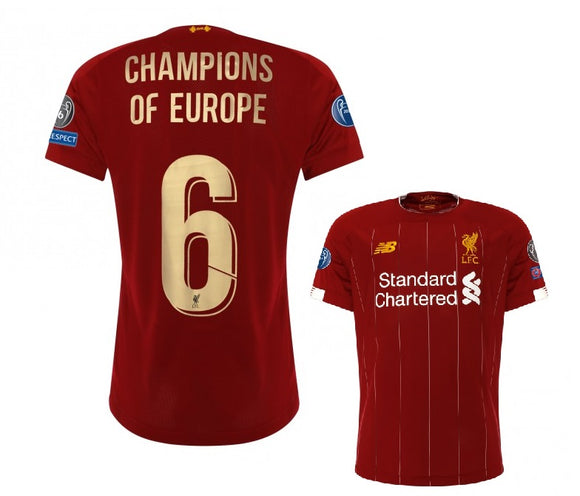 Original Liverpool Rare Champions Of Europe UCL Home Jersey 2019/20 [Superior Quality]