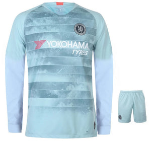 cheaper a1fc7 36c2f Original Chelsea 3rd Full Sleeve Premium Jersey and Shorts [Optional]  2018-19