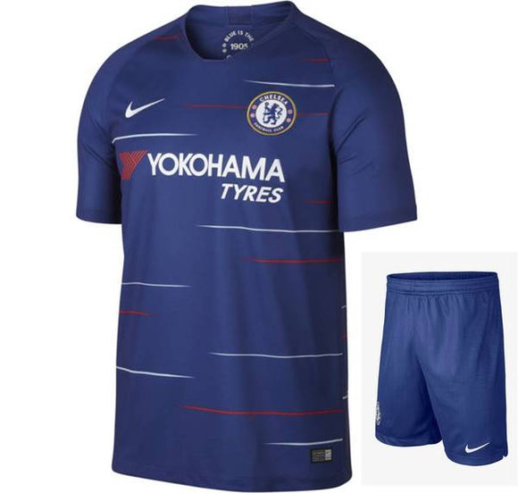 Original Chelsea Premium Home Jersey and Shorts [Optional] 2018-19