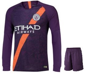 Original Manchester City Premium Full sleeve 3rd Jersey & Shorts[Optional] 2018-19