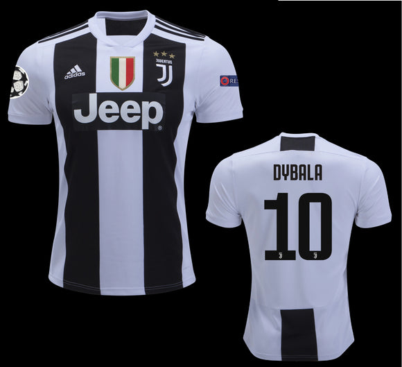 Original Dybala Juventus Home Jersey Champions League Edition 2018-19 (with Italia logos) [Superior Quality]