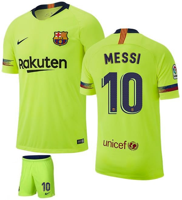 new product 1b17a 61b6b Original Messi Barcelona Premium Away Jersey & Shorts [Optional] 2018-19