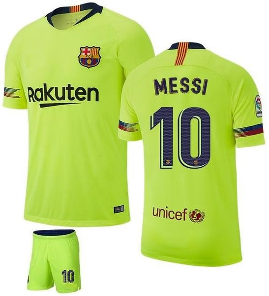 Original Messi Barcelona Premium Away Jersey & Shorts [Optional] 2018-19