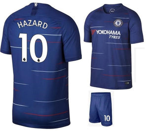 best service 75957 96249 Original Eden Hazard Chelsea Premium Home Jersey & Shorts [Optional] 2018-19