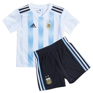 Boys Original Argentina Premium Home Jersey & Shorts World Cup 2018