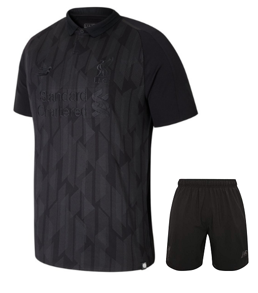 Rare Original Liverpool Premium Limited Edition Black Jersey and Shorts [Optional] 2018-19