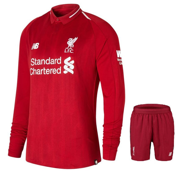 Original Liverpool Premium Home Full Sleeve Jersey and Shorts [Optional] 2018-19