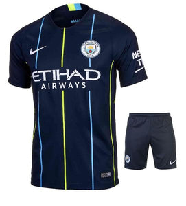 Original Manchester City Premium Away Jersey & Shorts [Optional] 2018-19