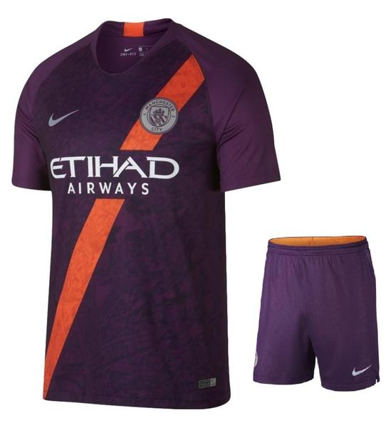 Original Manchester City Premium 3rd Jersey & Shorts [Optional] 2018-19