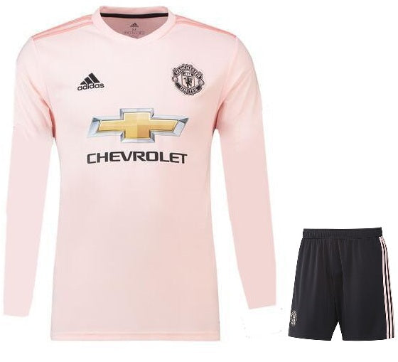 Original Manchester United Premium Away Full Sleeve Jersey & Shorts [Optional] 2018-19