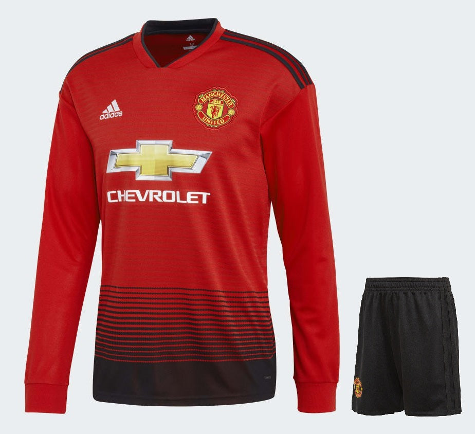 7f0bbbd24 Original Manchester United Premium Full Sleeve Home Jersey   Shorts   Optional  2018- ...