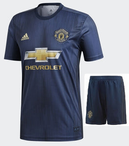 Original Manchester United Premium 3rd Kit Jersey and Shorts 2018-19