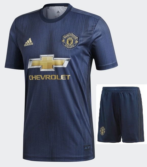 Original Manchester United Premium 3rd Kit Jersey and Shorts [Optional] 2018-19