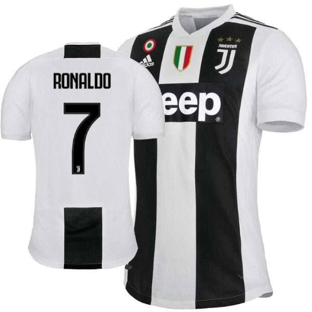 sports shoes 58e24 6cd84 Original Ronaldo Juventus Home Jersey 2018-19 (with Italia logos) [Superior  Quality]