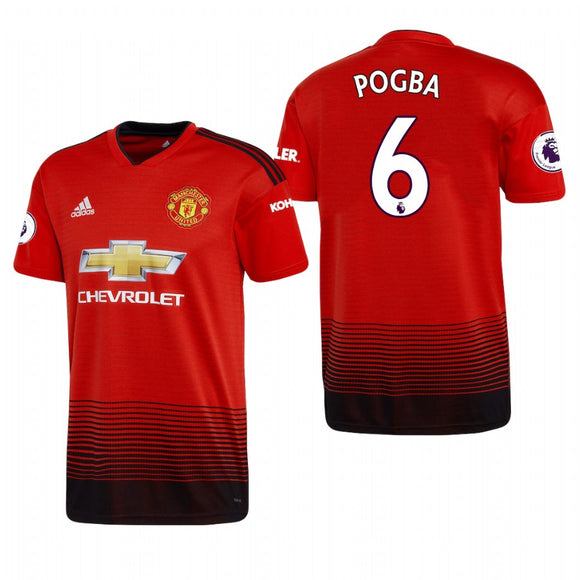 Original Pogba Manchester United Home Jersey 2018-19 (with EPL logo) [Superior Quality]