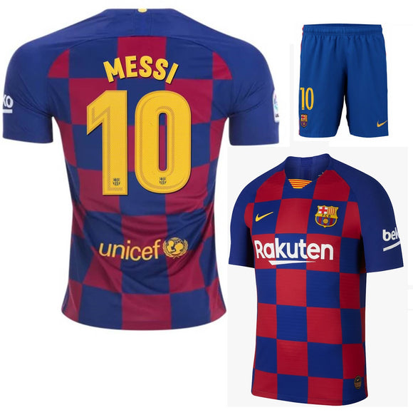 Original Messi Barcelona Premium Home Jersey & Shorts [Optional] 2019/20