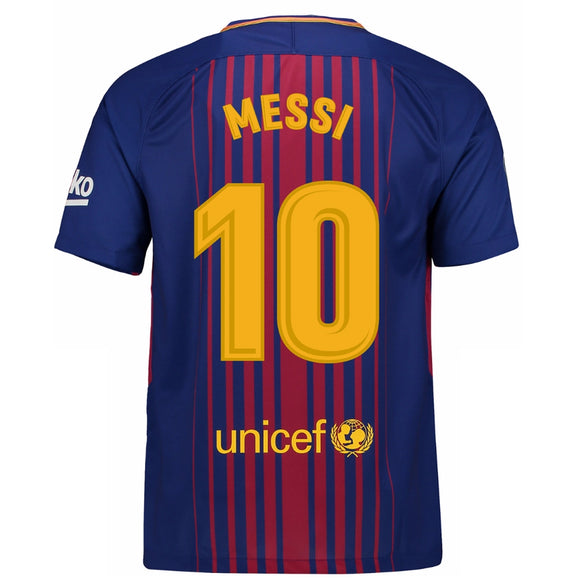 Messi Replica Barcelona Customized Home Football Jersey