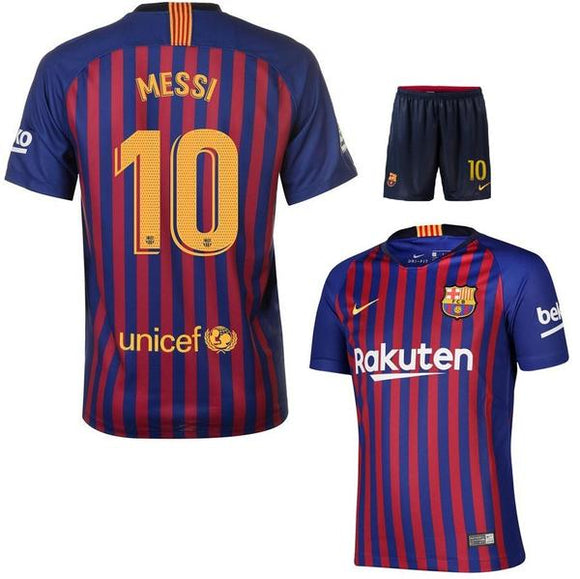 Original Messi Barcelona Premium Home Jersey & Shorts [Optional] 2018-19