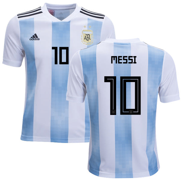 huge discount 79964 bfdbc Original Messi Argentina Home Jersey 2018 [Superior Quality]