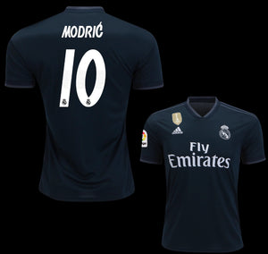 Original Modric  Real Madrid Away Jersey 2018-19 with La Liga Logo [Superior Quality]