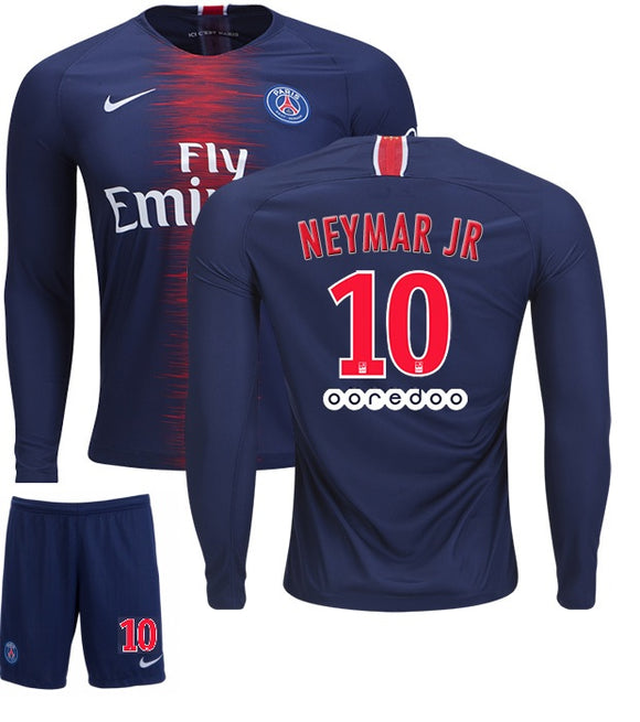 eac1a6d9d Original Neymar PSG Full Sleeve Premium Home Jersey   Shorts  Optional  2018 -19