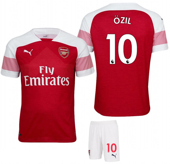 Original Arsenal Ozil Premium Home Jersey and Shorts [Optional] 2018-19