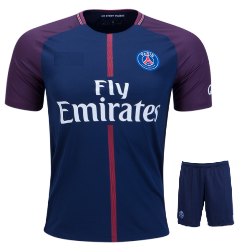 Original PSG Premium Home Jersey and Shorts [Optional] 17-18