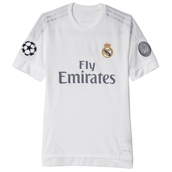 Boys and Adult Real Madrid Premium Home Football Jersey and Shorts Champions League Edition