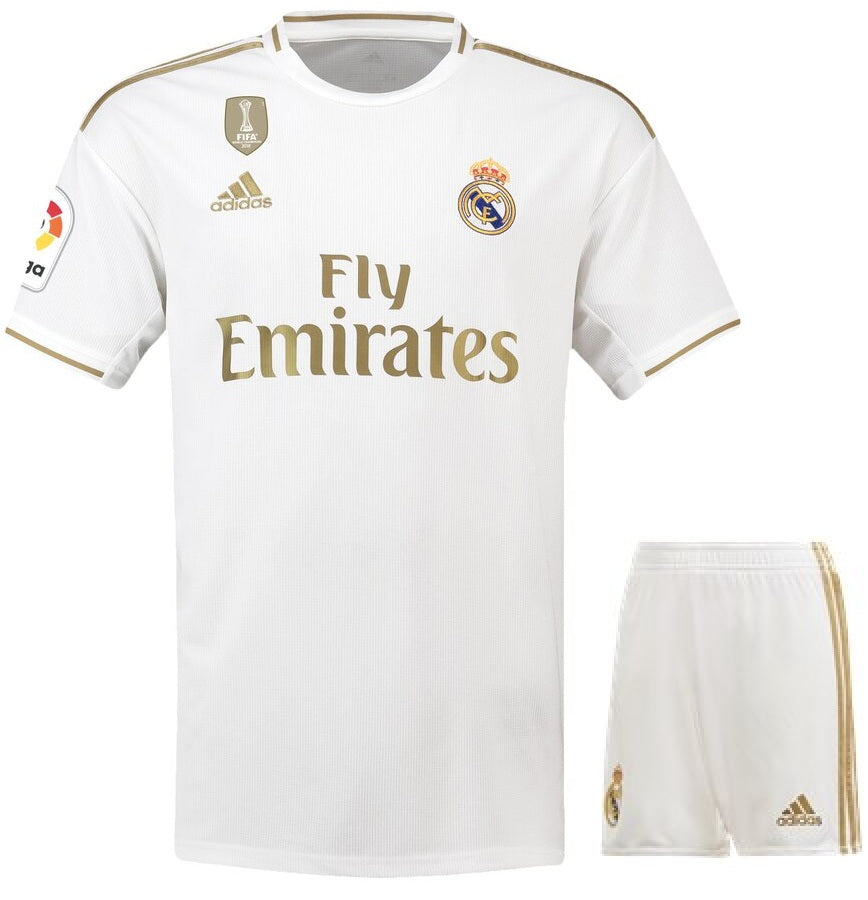 release date: 95d47 617df Real Madrid Home Jersey & Shorts 2019/20