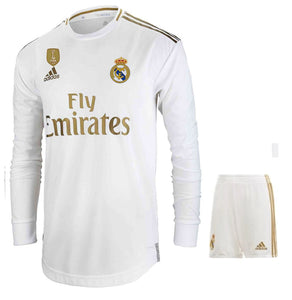 finest selection 8dfb9 a2c80 Original Real Madrid Premium Full Sleeve Home Jersey & Shorts [Optional]  2019/20