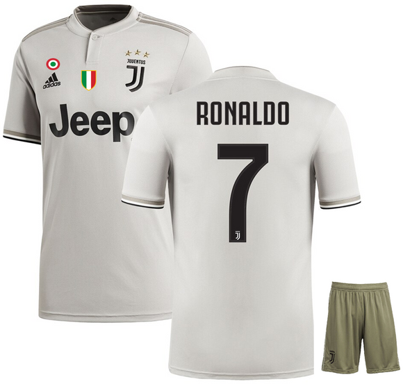 90b9bc7af Original Ronaldo Juventus Premium Away Jersey   Shorts  Optional   2018-19(with