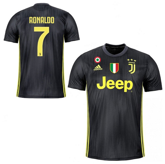 Original Ronaldo Juventus Away Jersey 2018-19(with Italia & SerieA logos) [Superior Quality]