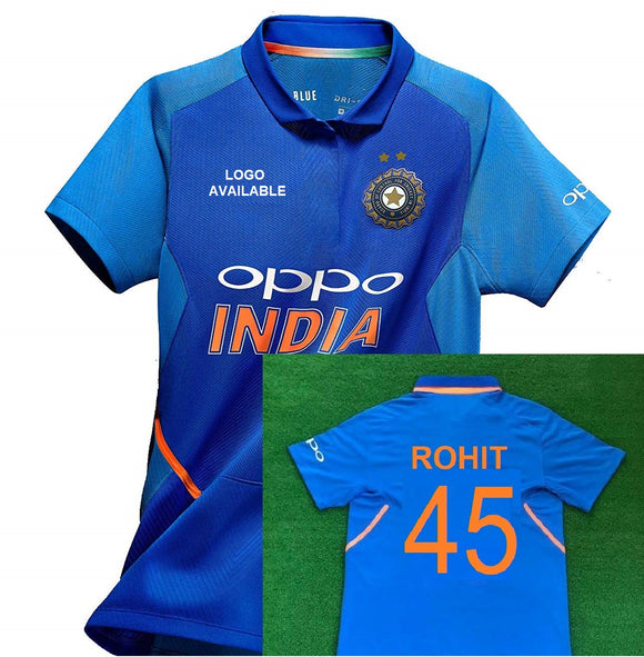 Original ROHIT India International Cricket Jersey World Cup 2019 [Original Piece]