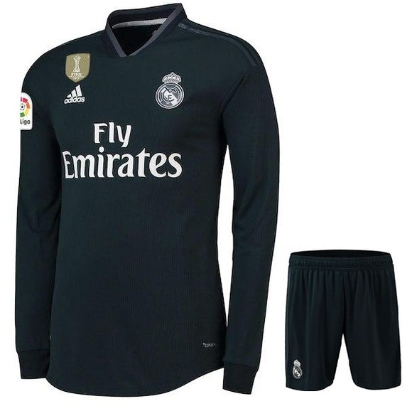 Original Real Madrid Full sleeve Premium Away Jersey & Shorts [Optional] 2018-19