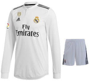 Original Real Madrid Premium Full Sleeve Home Jersey & Shorts [Optional] 2018-19